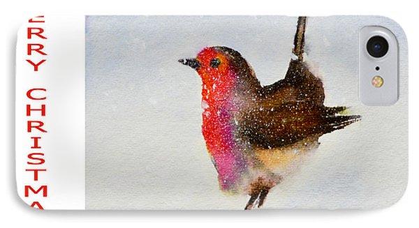 Robin Christmas Card IPhone Case