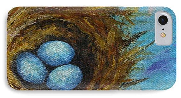 Robin's Three Eggs Viii IPhone Case