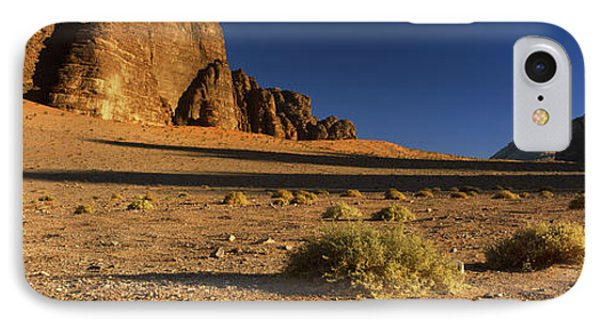 Rock Formations In A Desert, Wadi Um IPhone Case