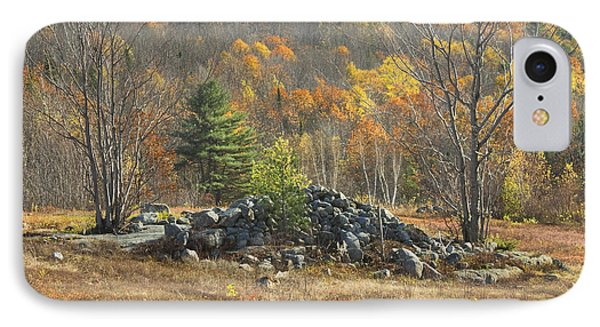 Rock Pile In Maine Blueberry Field IPhone Case