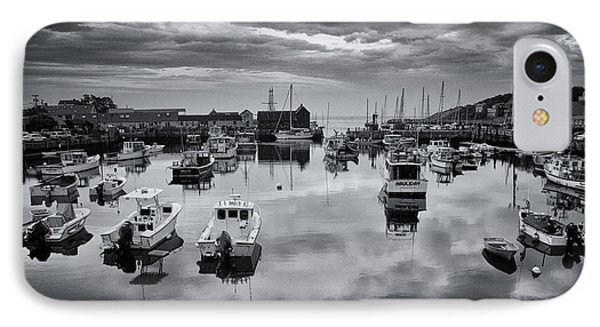 Rockport Harbor View - Bw IPhone Case