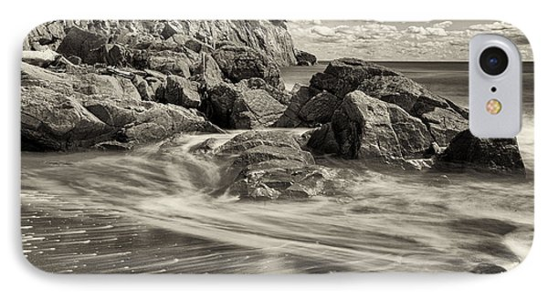 Rocky Beach Motion Blur Waves IPhone Case