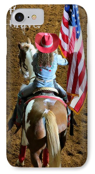 Rodeo America - Land Of The Free IPhone Case
