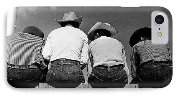 Rodeo Spectators IPhone Case