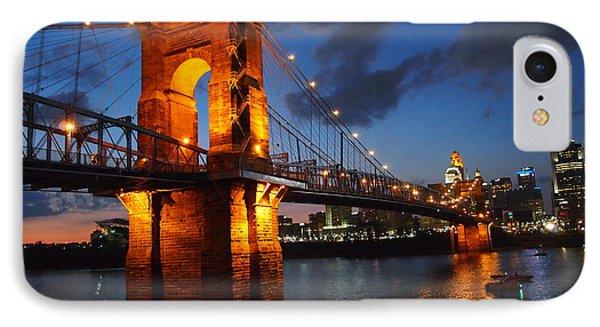 Roebling Suspension Bridge At Sunset IPhone Case