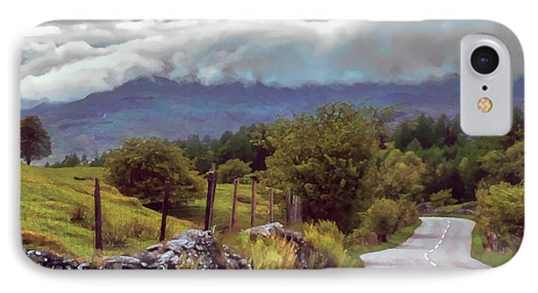 Rolling Storm Clouds Down Cumbrian Hills IPhone Case