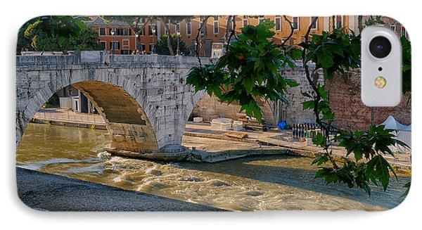 Rome- Bridge At Dusk IPhone Case