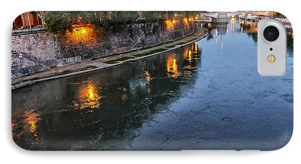 Rome- Dusk On The River IPhone Case