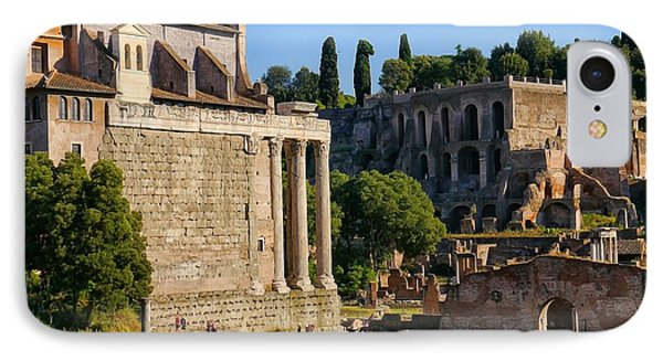 Rome Ruins Afternoon Light IPhone Case