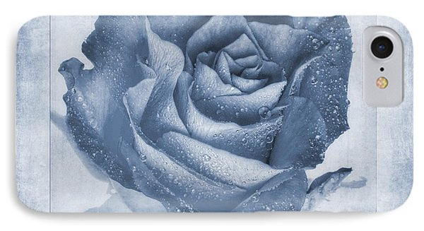Rosa Floribunda Rainbow Sorbet Cyanotype IPhone Case