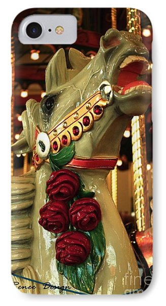 Rose Horse In Color IPhone Case