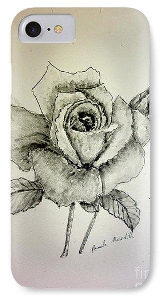 Rose In Monotone IPhone Case