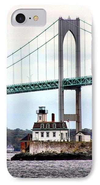 Rose Island Lighthouse IPhone Case