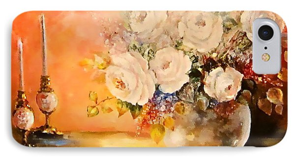 Roses And Candlelight IPhone Case
