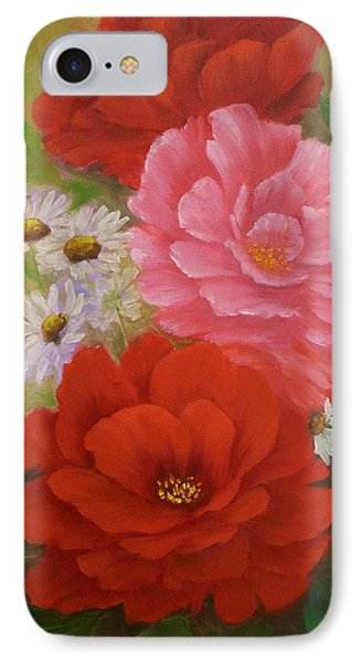 Roses And Daisies IPhone Case