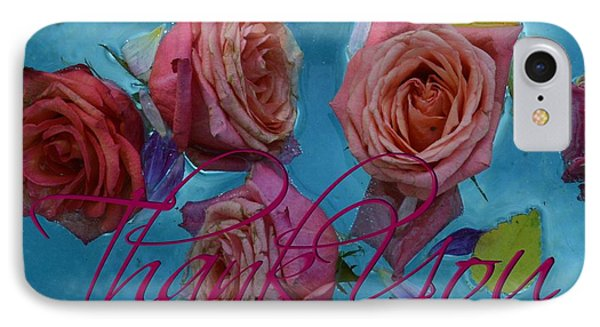 Roses Thank You  For Card IPhone Case