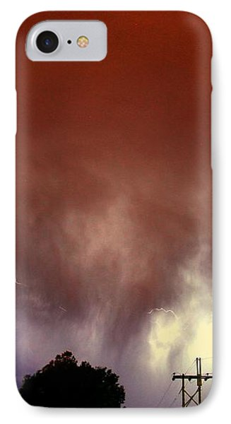 Nebraskasc iPhone 8 Case - Rounds 2 3 Late Night Nebraska Storms by NebraskaSC