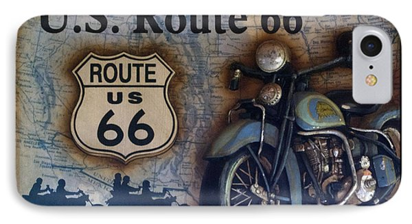 Route 66 Odell Il Gas Station Motorcycle Signage IPhone Case