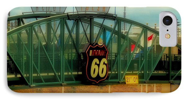 Route 66 Polaroid - Large Format - No Transfer Border IPhone Case