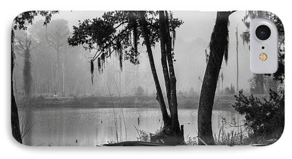 Row Boat On A Foggy Morn IPhone Case
