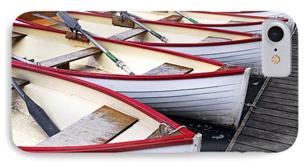 Boat iPhone 8 Case - Rowboats by Elena Elisseeva