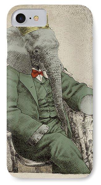 Animals iPhone 8 Case - Royal Portrait by Eric Fan