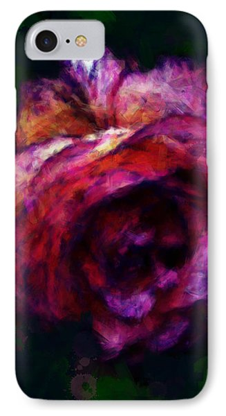 Royal Rose Painted IPhone Case