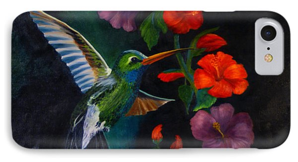 Rubythroated Humming Bird And Hibiscus IPhone Case