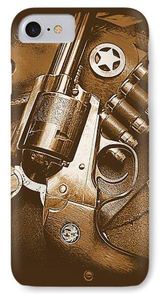 Ruger Super Blackhawk In Sepia 1 IPhone Case