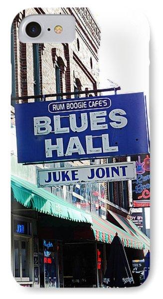 Rum Boogie Blues Hall Beale St Memphis IPhone Case
