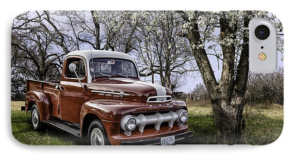 Rural 1952 Ford Pickup IPhone Case