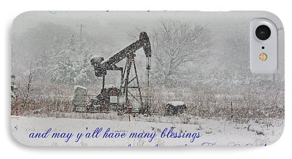 Rural Texas Christmas IPhone Case