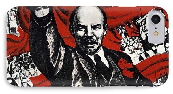 Russian Revolution October 1917 Vladimir Ilyich Lenin Ulyanov  1870 1924 Russian Revolutionary IPhone Case