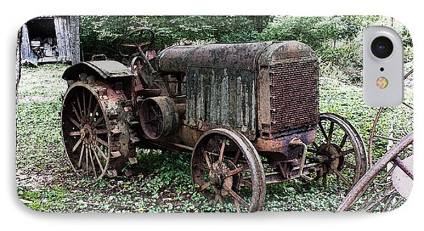 Rusted Mc Cormick-deering Tractor And Shed IPhone Case