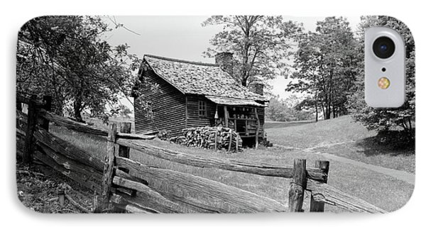 Rustic Log Cabin From 1880s Behind Post IPhone Case