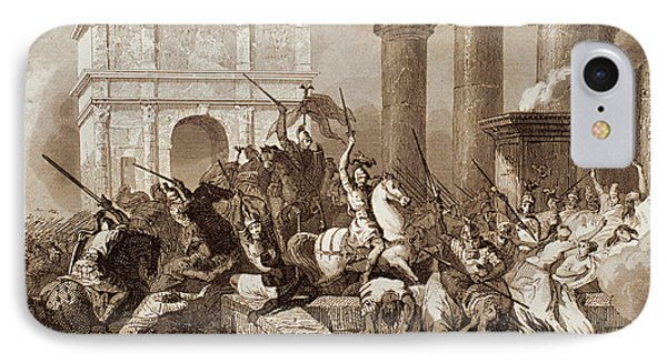 Sack Of Rome By The Visigoths Led By Alaric I In 410 IPhone Case