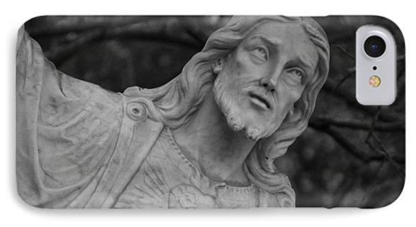 Sacred Heart Of Jesus - Bw IPhone Case