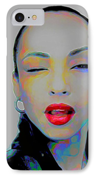 Rhythm And Blues iPhone 8 Case - Sade 3 by Fli Art
