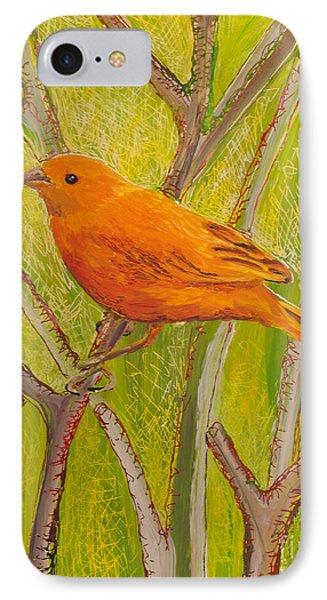 Saffron Finch IPhone Case