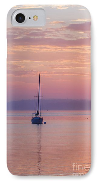 Sailboat At Sunrise In Casco Bay Maine IPhone Case