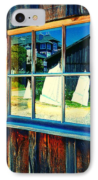 Sailboat In Window 2 IPhone Case