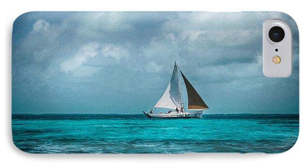 Sailing In Blue Belize IPhone Case