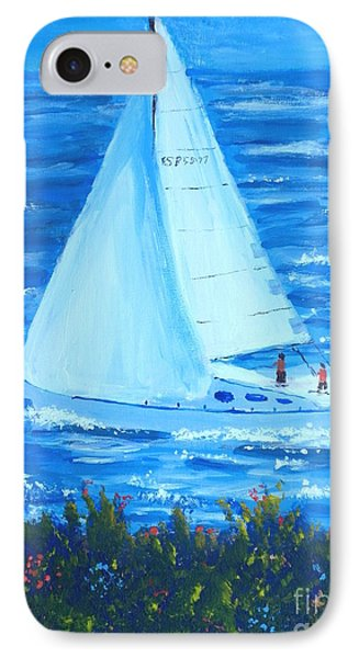 Sailing Off The Coast IPhone Case