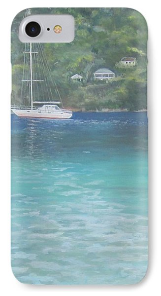 Sailing On The Caribbean IPhone Case