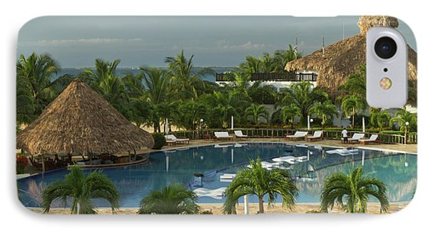 Belize iPhone 8 Case - Saltwater Pool At Resort Hotel by William Sutton