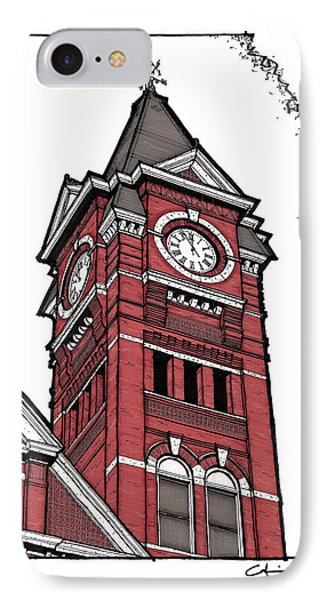 Samford Hall Clock Tower IPhone Case