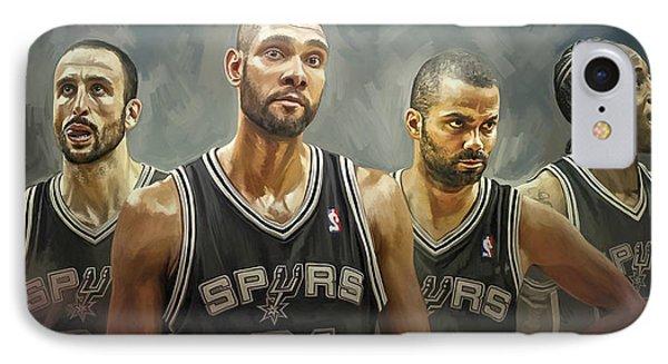 San Antonio Spurs Artwork IPhone Case