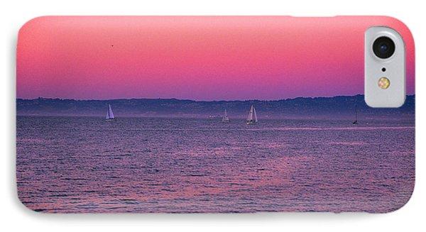 San Francisco Bay Sailing At Dusk IPhone Case