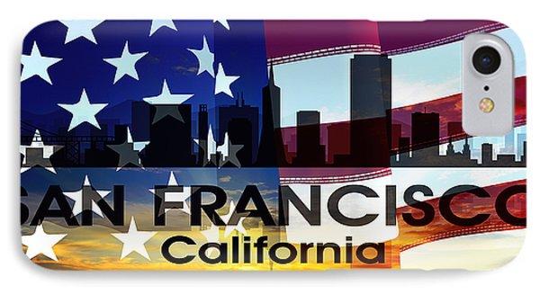 San Francisco Ca Patriotic Large Cityscape IPhone Case
