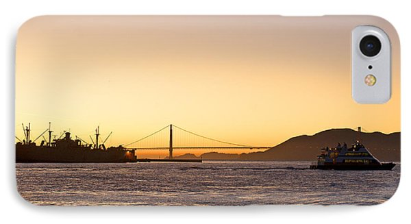 San Francisco Harbor Golden Gate Bridge At Sunset IPhone Case
